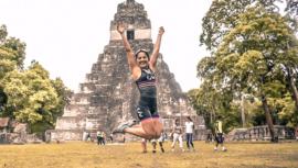 Gabriela Rodríguez impuso récord en el Triatlón Hombre Maya 2019