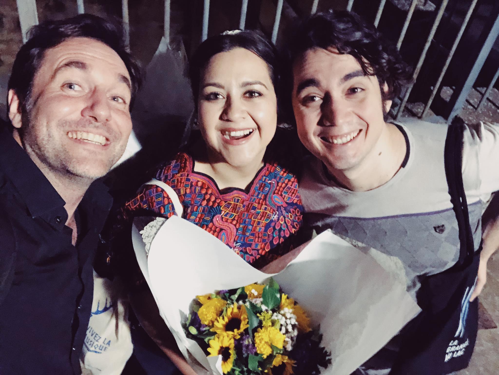 Guatemalteca en final de concurso de ópera