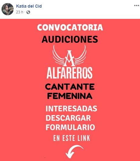 Guatemaltecas podrán participar en audición para cantante femenina de Alfareros
