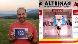 Juan Carlos Sagastume completó el Altriman Triathlon 2019 en Francia