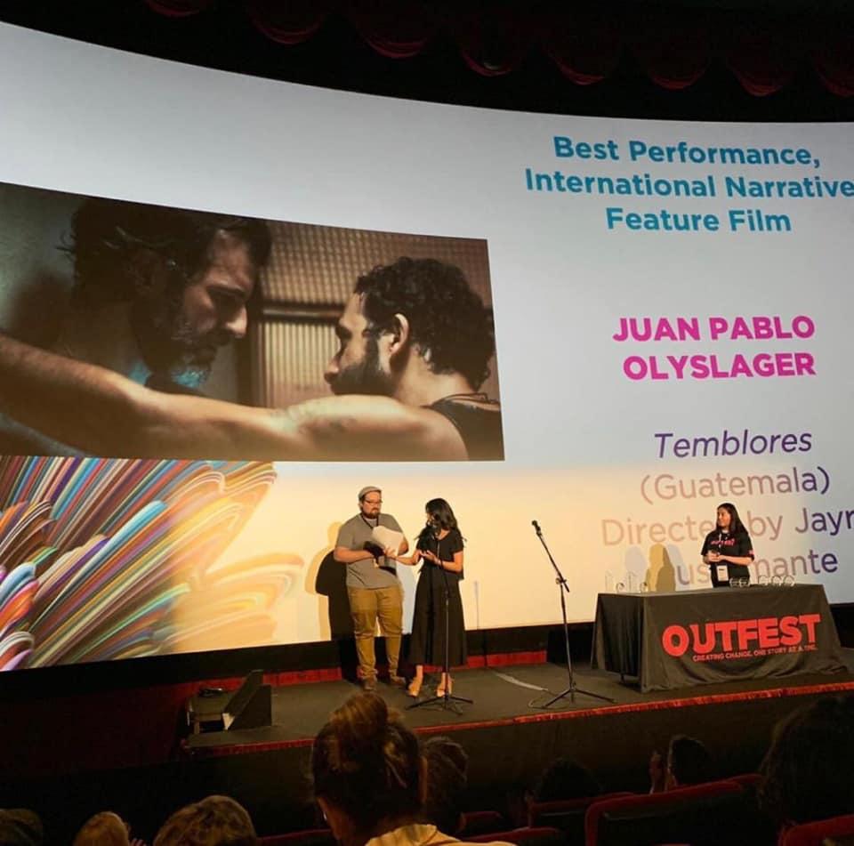 Juan Olyslager de Temblores fue premiado como mejor actor en festival de cine de Los Ángeles