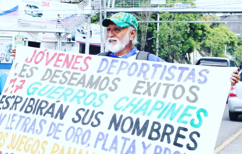 Juegos Panamericanos 2019 Felipe Flores elaboró un cartel para la delegación guatemalteca
