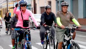 Recorrido en bicicleta por las calles de Zona 1   Agosto 2019
