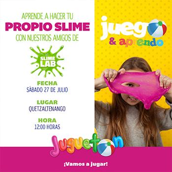 Taller de slime para niños en Quetzaltenango
