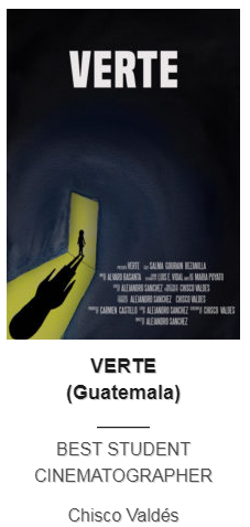 Guatemalteco el mejor director de fotografía estudiantil en Festival de Cine en Nueva York 2019