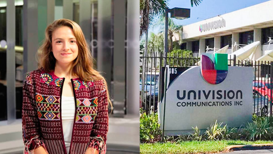 Katia Lehnhoff hace prácticas profesionales en Univision 34 Los Ángeles