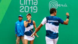 Lima 2019: Guatemala sorprendió en dobles mixtos de tenis de los Juegos Panamericanos