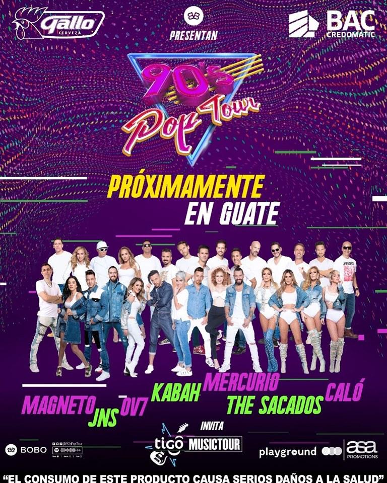 Magneto, JNS, OV7, Kabah, Mercurio, The Sacados y Caló brindarán concierto en Guatemala