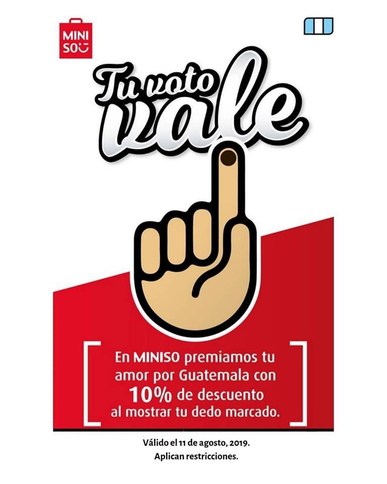 Promociones en Guatemala por elecciones