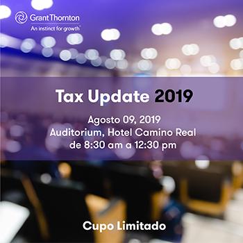 Tax Update 2019 Seminario sobre nuevos regímenes tributarios