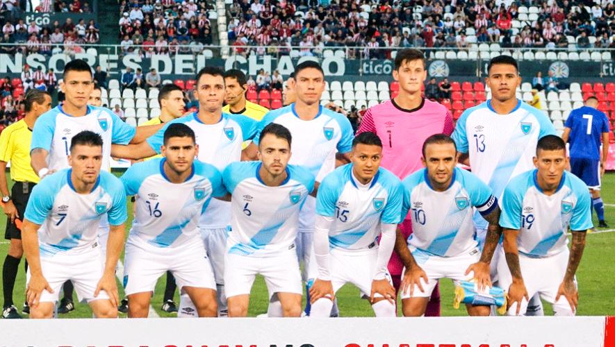 Alineación de Guatemala para el partido vs. Anguila, Liga de Naciones C 2019
