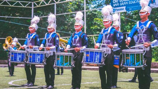 Arcángeles Marching Band de Retalhuleu se lució interpretando canción de El Tambor de la Tribu