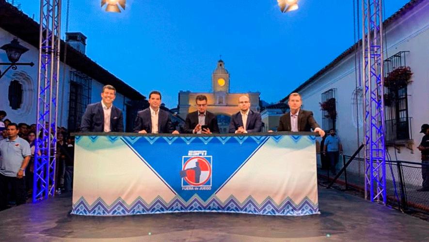 Así fue el programa Fuera de Juego (ESPN) en Antigua Guatemala en 2019
