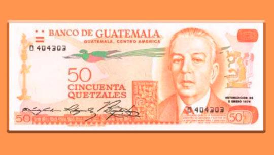 Cambios que ha tenido el billete de 50 quetzales en Guatemala
