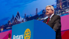 Mark Maloney, presidente de Rotary International, visitó Guatemala y esto es lo que dijo