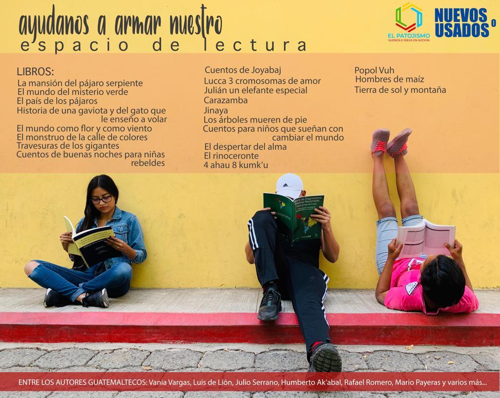 Recaudan libros para crear espacio de lectura en la Asociación Los Patojos en Jocotenango
