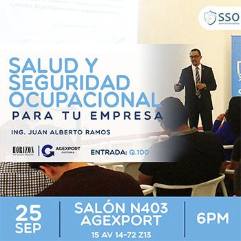 Taller de salud y seguridad operacional para empresas en Ciudad de Guatemala | Septiembre 2019