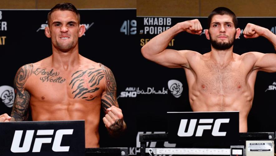 UFC 242: Horario y canales en Guatemala para ver en vivo la pelea Khabib vs. Poirier