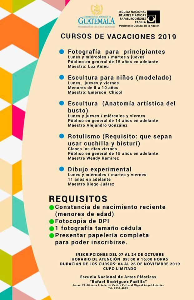 Cursos de vacaciones guatemaltecos