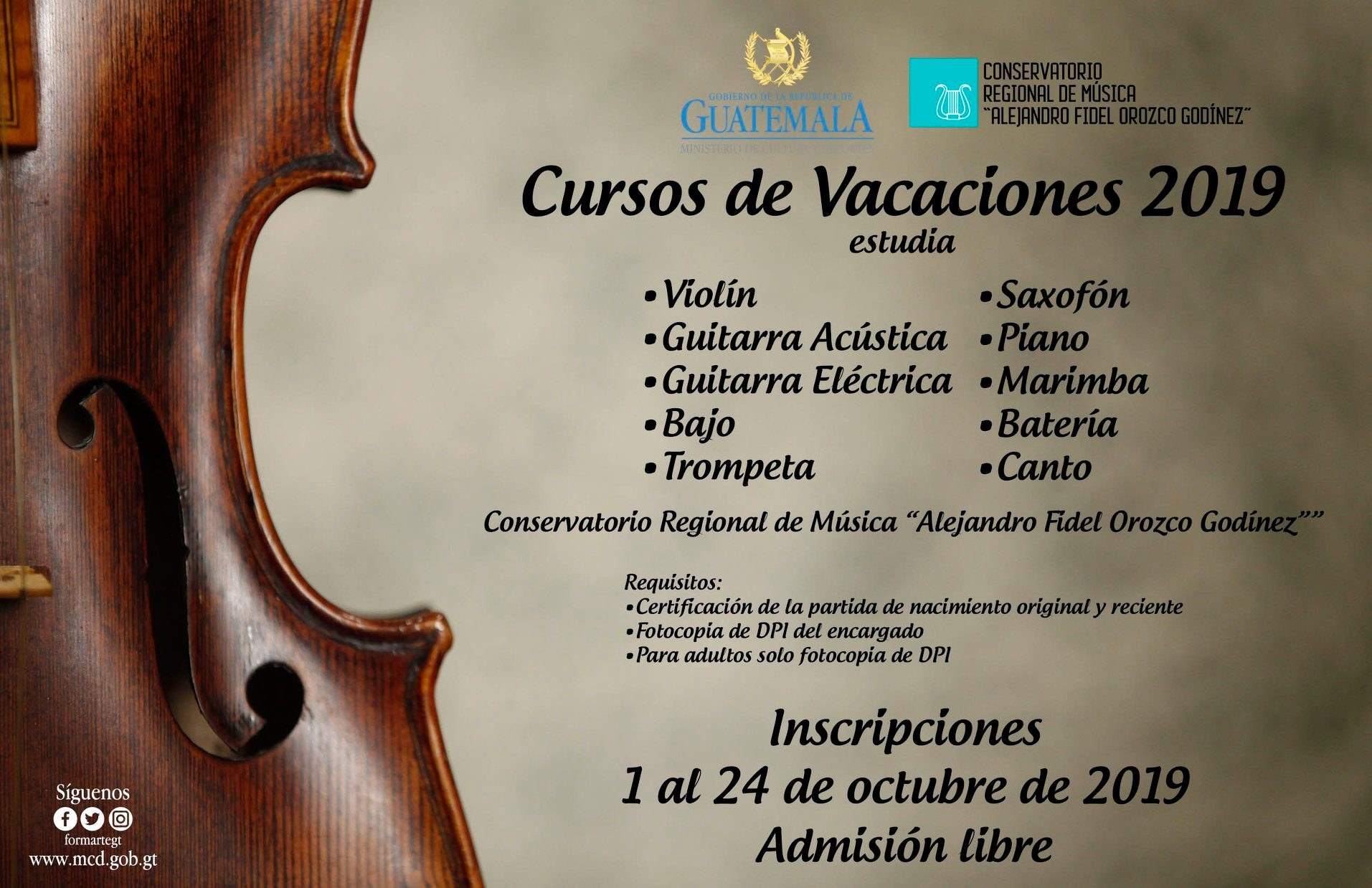 Cursos vacaciones Guatemala