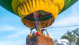 Elevación en globo aerostático en Laguna El Pino   Octubre 2019