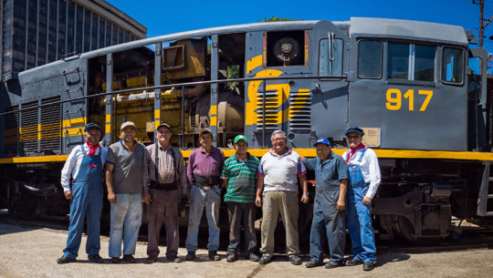 Ellos son quienes le darán vida al tren 917 que recorrerá la Ciudad de Guatemala