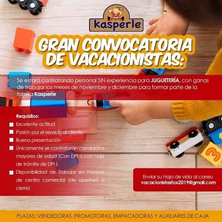 Empleos vacacionistas Guatemala