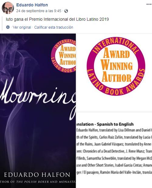 Escritores ganan premio en International Latino Book Awards 2019 en Estados Unidos