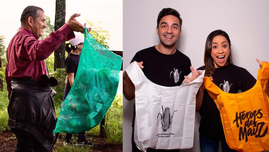 Guatemaltecos fabrican bolsas con botellas recicladas para ayudar al medio ambiente