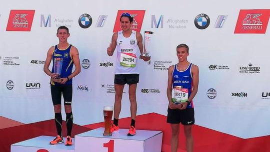Luis Rivero conquistó el podio del Medio Maratón de Múnich 2019
