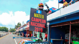 Mateo Llarena es el ganador de la categoría Vintage GTR del Campeonato Nacional 2019
