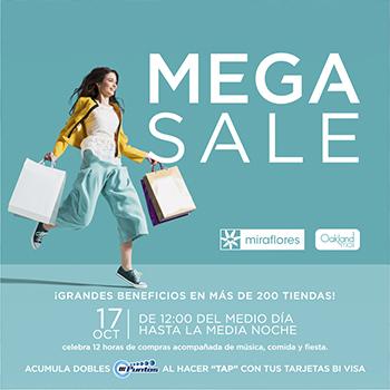 Mega Sale 2019, una tarde de grandes descuentos en Miraflores y Oakland Mall