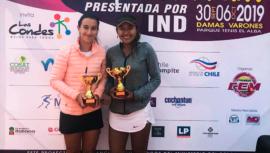 Melissa Morales se quedó con el título de dobles en el W15 Santiago 2019