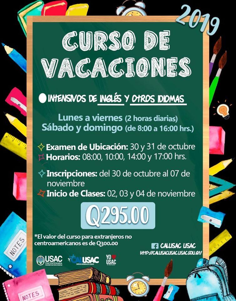 cURSOS DE VACACIONES EN Guatemala