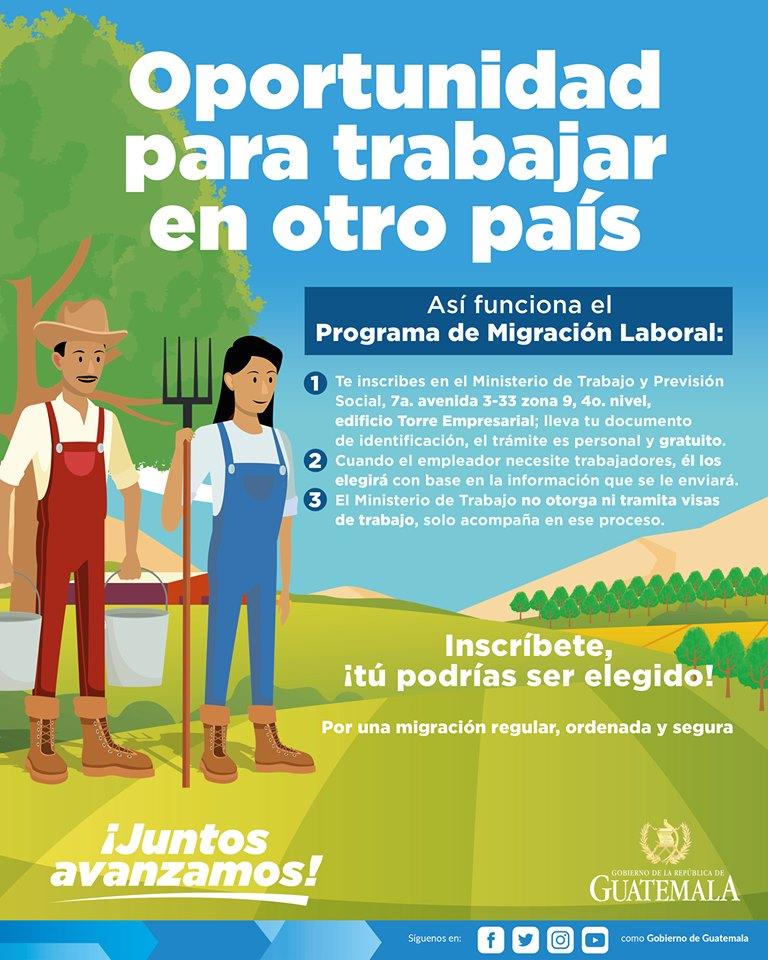 convocatoria de visas de trabajo para otro país 2019
