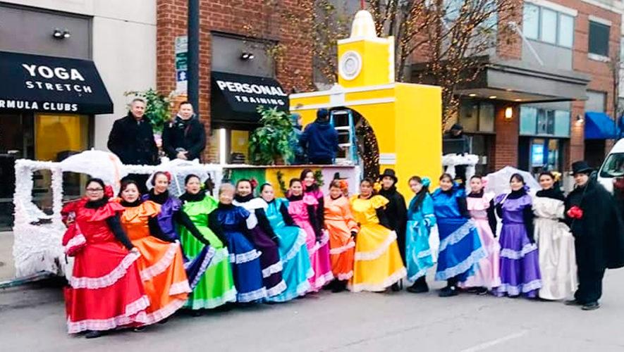 Antigua Guatemala fue representada en desfile de Acción de Gracias en Chicago
