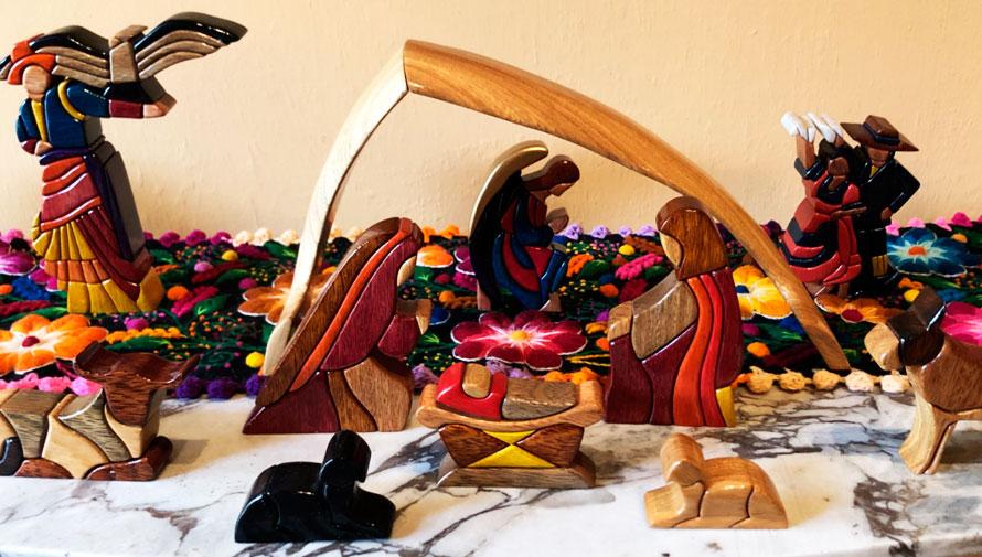 Exposición de nacimientos de Navidad en Guatemala