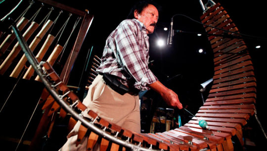 Instrumentos de Joaquín Orellana inspirados en la marimba guatemalteca