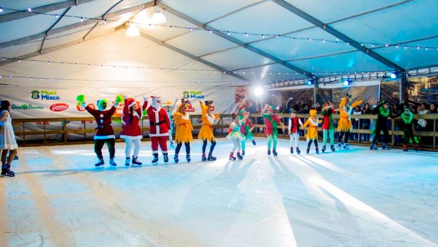 Pista de patinaje sobre hielo en Mixco | Diciembre 2019