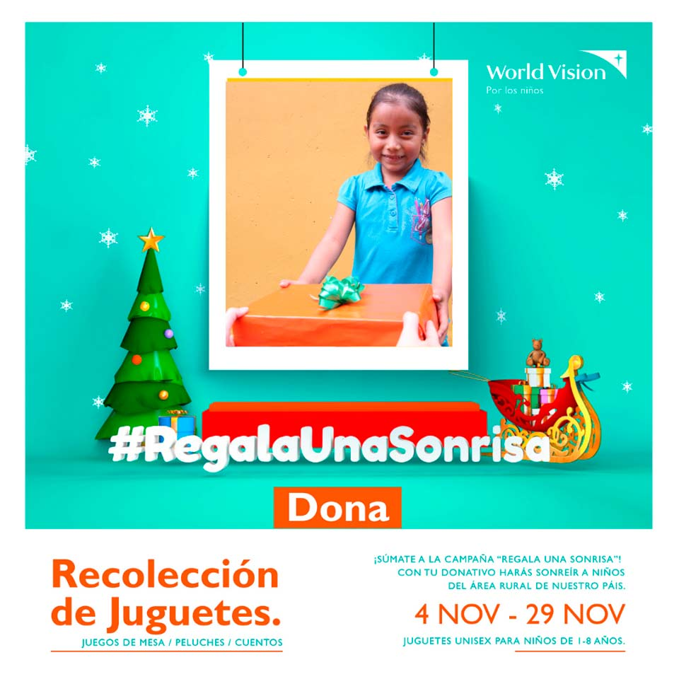 Recolectarán juguetes para niños de áreas rurales de Guatemala en noviembre 2019