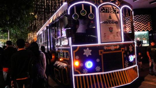 Recorridos gratuitos en trolley del Festival Navideño Paseo de la Sexta