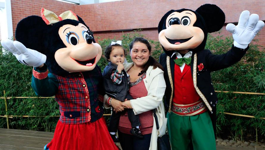 Show navideño gratuito con Mickey y Minnie