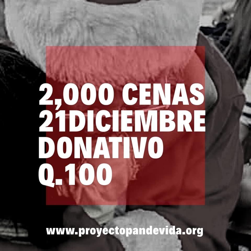 Buscan voluntarios para entregar cenas de Navidad a familias de escasos recursos