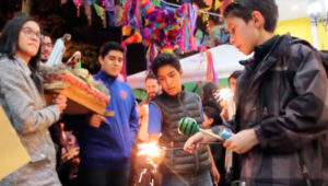 Celebración de posada mexicana en Zona 9   Diciembre 2019