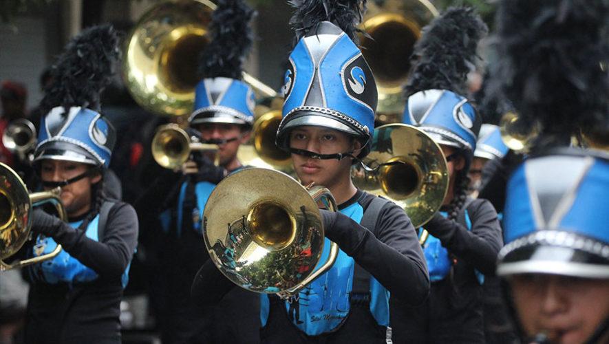 Desfile navideño de bandas en Zona 17 | Diciembre 2019