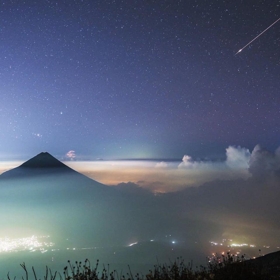 Fotos del meteoro de unicornio que se observó en el cielo guatemalteco