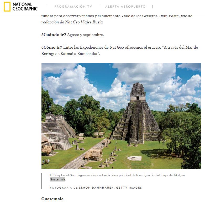 Guatemala lugar para viajar