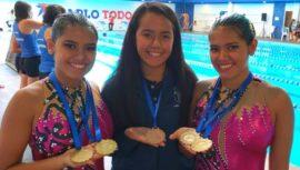 Guatemaltecas ganan oro en nado sincronizado en Copa Bigua Uruguay 2019