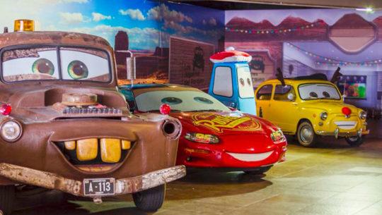 Personajes de Cars que forman parte de la colección de Los Juguetes del Parqueo