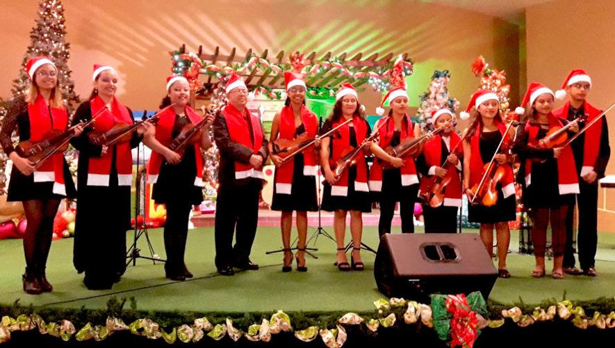 Recital navideño gratuito de violines en Antigua Guatemala | Diciembre 2019